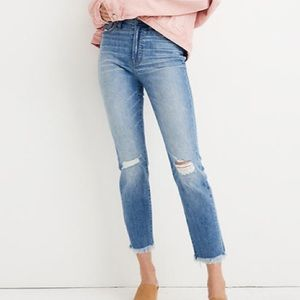 Madewell plus size petite distressed Mom jeans 35P